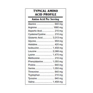 Plant Protein Vanilla Amino Acid Profile